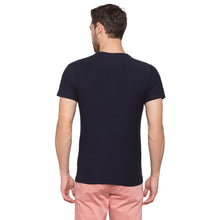 Load image into Gallery viewer, Globus Navy Blue Solid Henley T-Shirt3