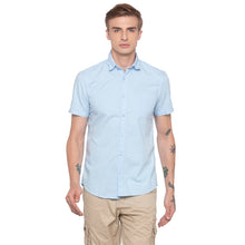 Load image into Gallery viewer, Solid Sky Blue Casual Shirt-1