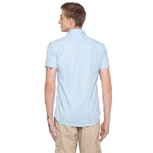 Load image into Gallery viewer, Solid Sky Blue Casual Shirt-3