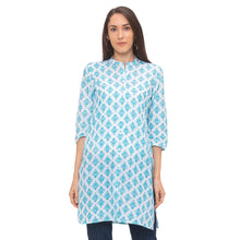 Load image into Gallery viewer, Globus Blue Ethnic Motifs Kurta-1