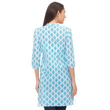 Load image into Gallery viewer, Globus Blue Ethnic Motifs Kurta-3