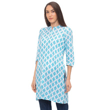 Load image into Gallery viewer, Globus Blue Ethnic Motifs Kurta-2