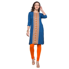 Load image into Gallery viewer, Globus Blue Printed Kurta1