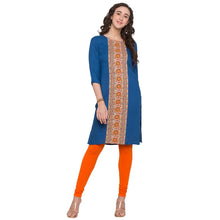 Load image into Gallery viewer, Globus Blue Printed Kurta4