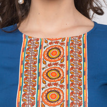 Load image into Gallery viewer, Globus Blue Printed Kurta5