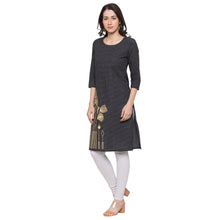 Load image into Gallery viewer, Globus Black Checked Kurta2