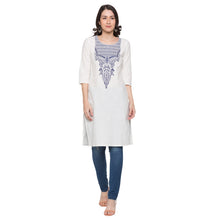 Load image into Gallery viewer, Globus White Printed Kurta1