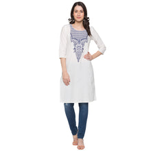 Load image into Gallery viewer, Globus White Printed Kurta4