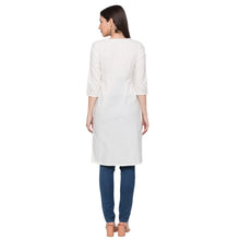 Load image into Gallery viewer, Globus White Printed Kurta3