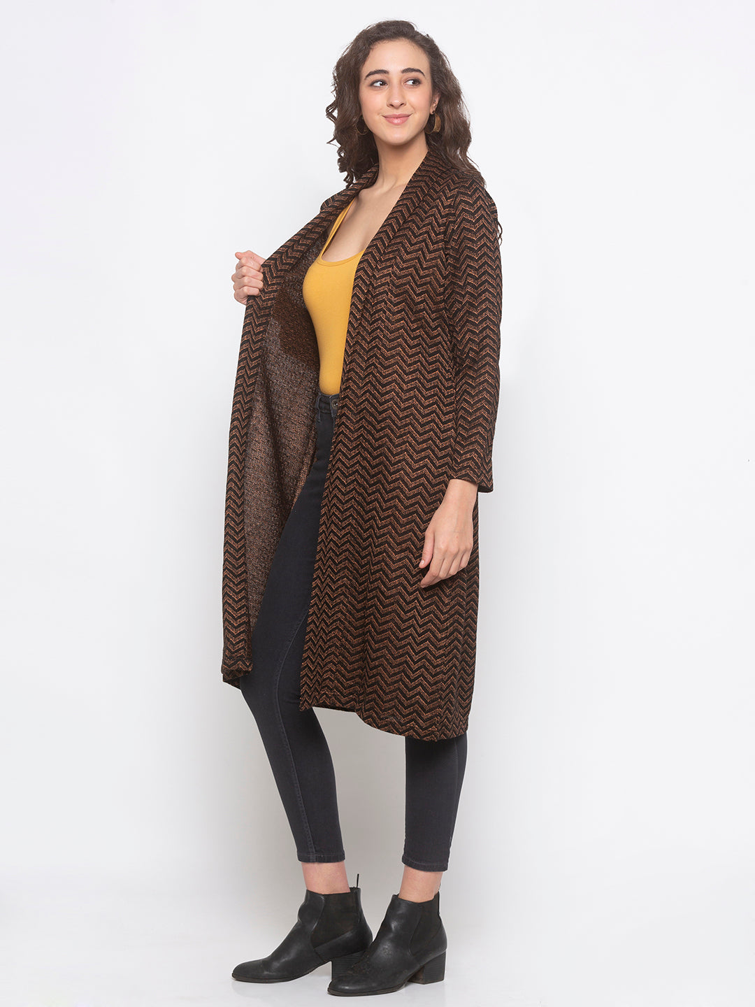 Globus Black Striped Shrug-2