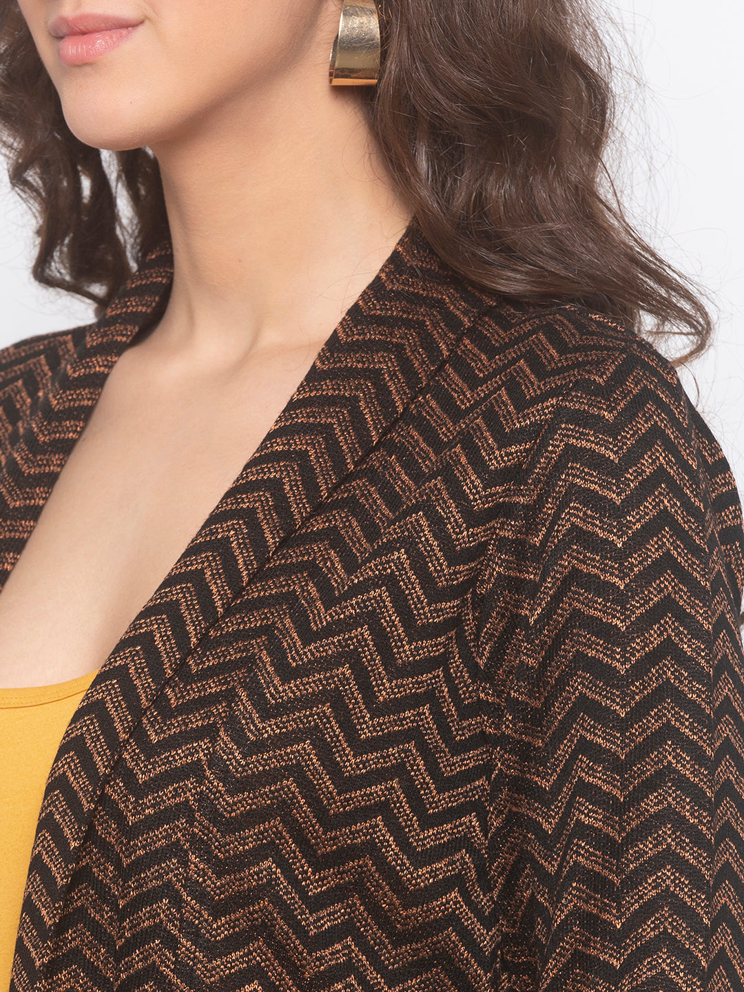 Globus Black Striped Shrug-5