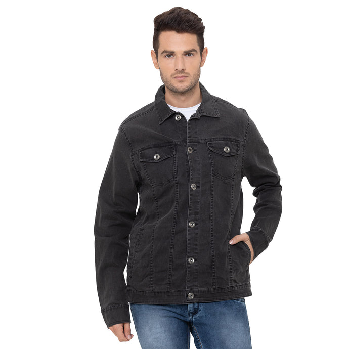 Globus Black Solid Jackets-1
