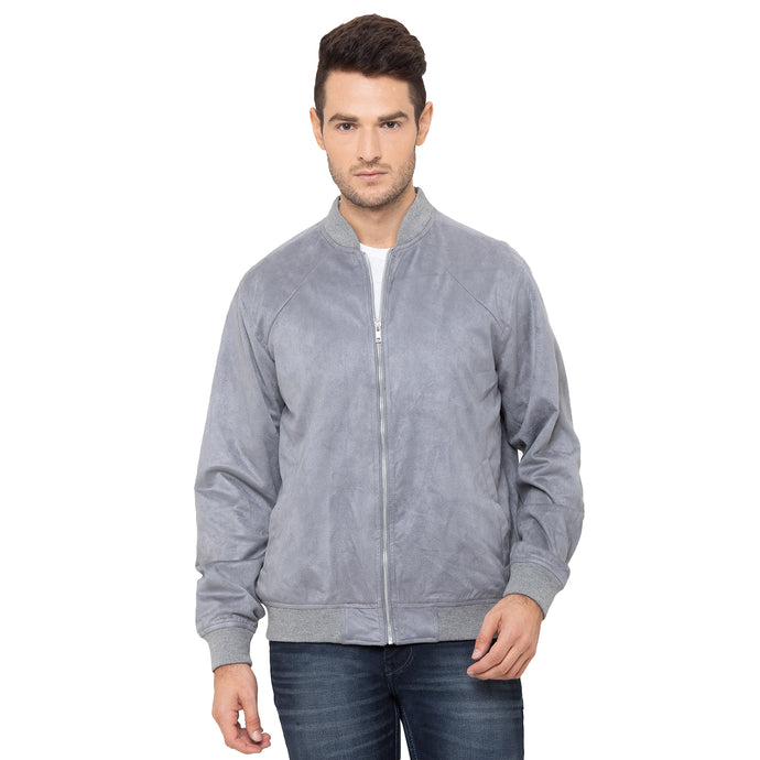 Globus Grey Solid Jackets-1