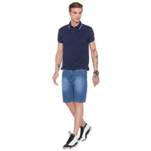 Load image into Gallery viewer, Polo Collar Navy Blue T-shirt-4