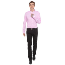 Load image into Gallery viewer, Checked Mandarin Collar Pink Shirt-4