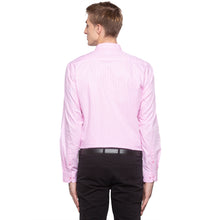 Load image into Gallery viewer, Checked Mandarin Collar Pink Shirt-3