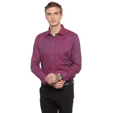Load image into Gallery viewer, Solid Slim Fit Maroon Shirt-1