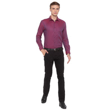 Load image into Gallery viewer, Solid Slim Fit Maroon Shirt-4