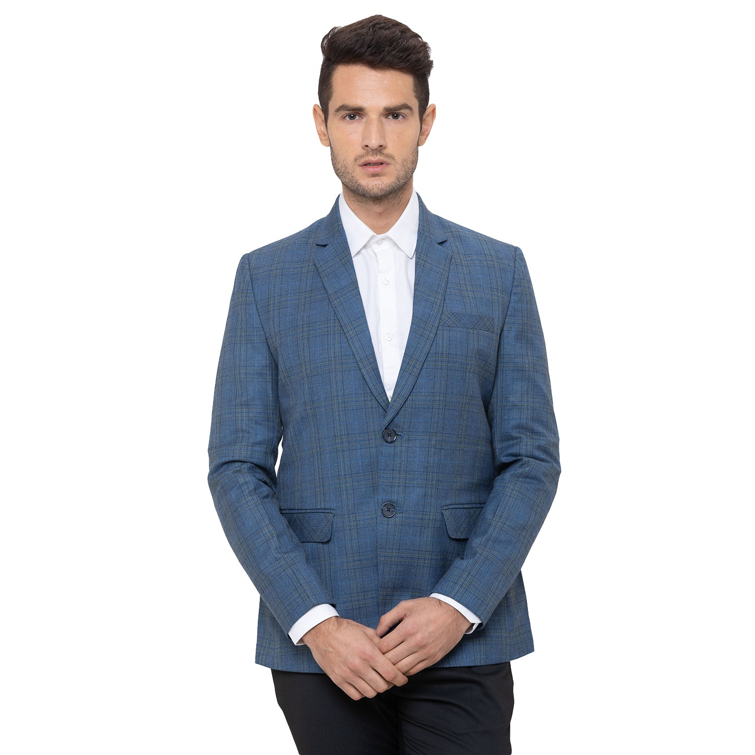 Globus Blue Checked Blazers-1