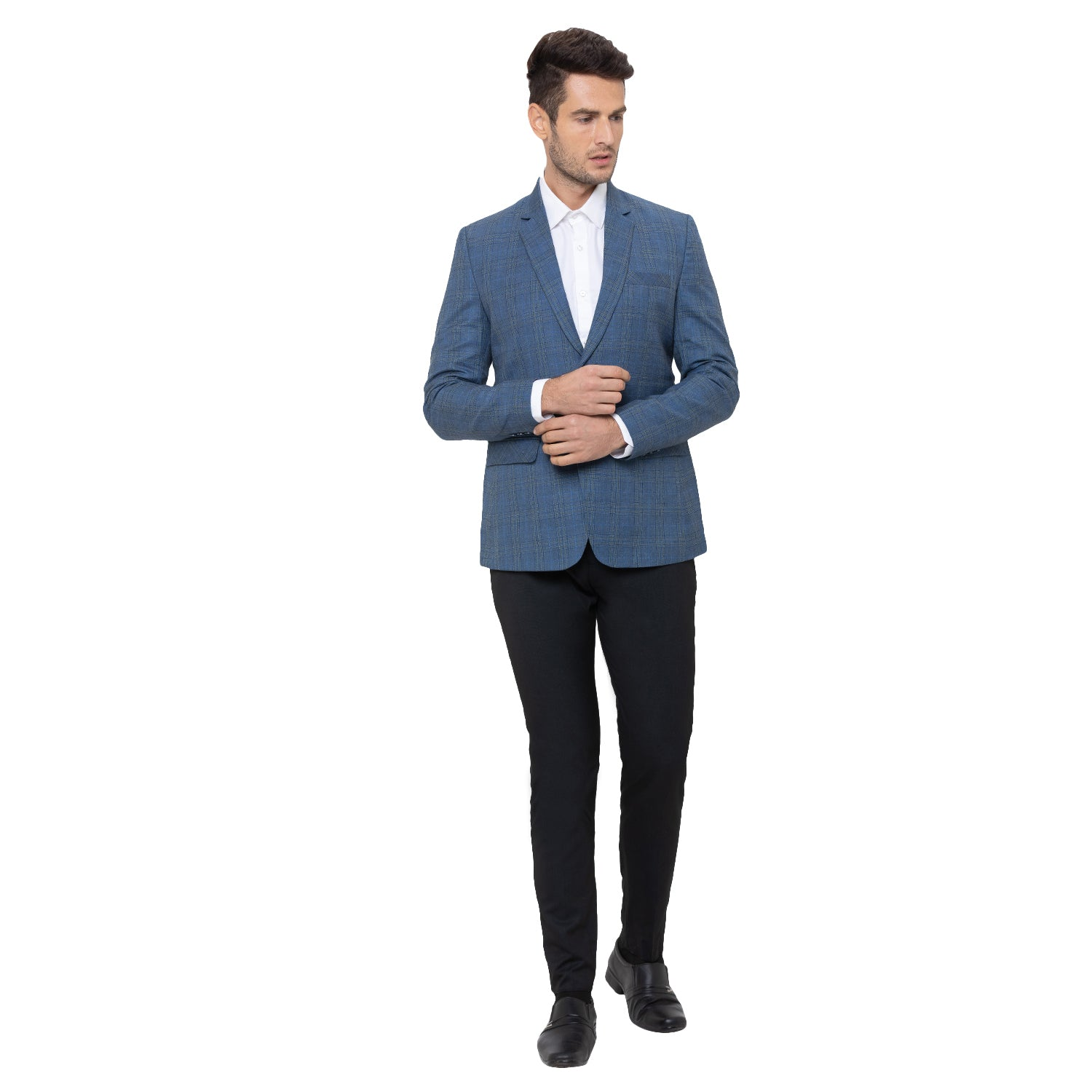 Globus Blue Checked Blazers-2