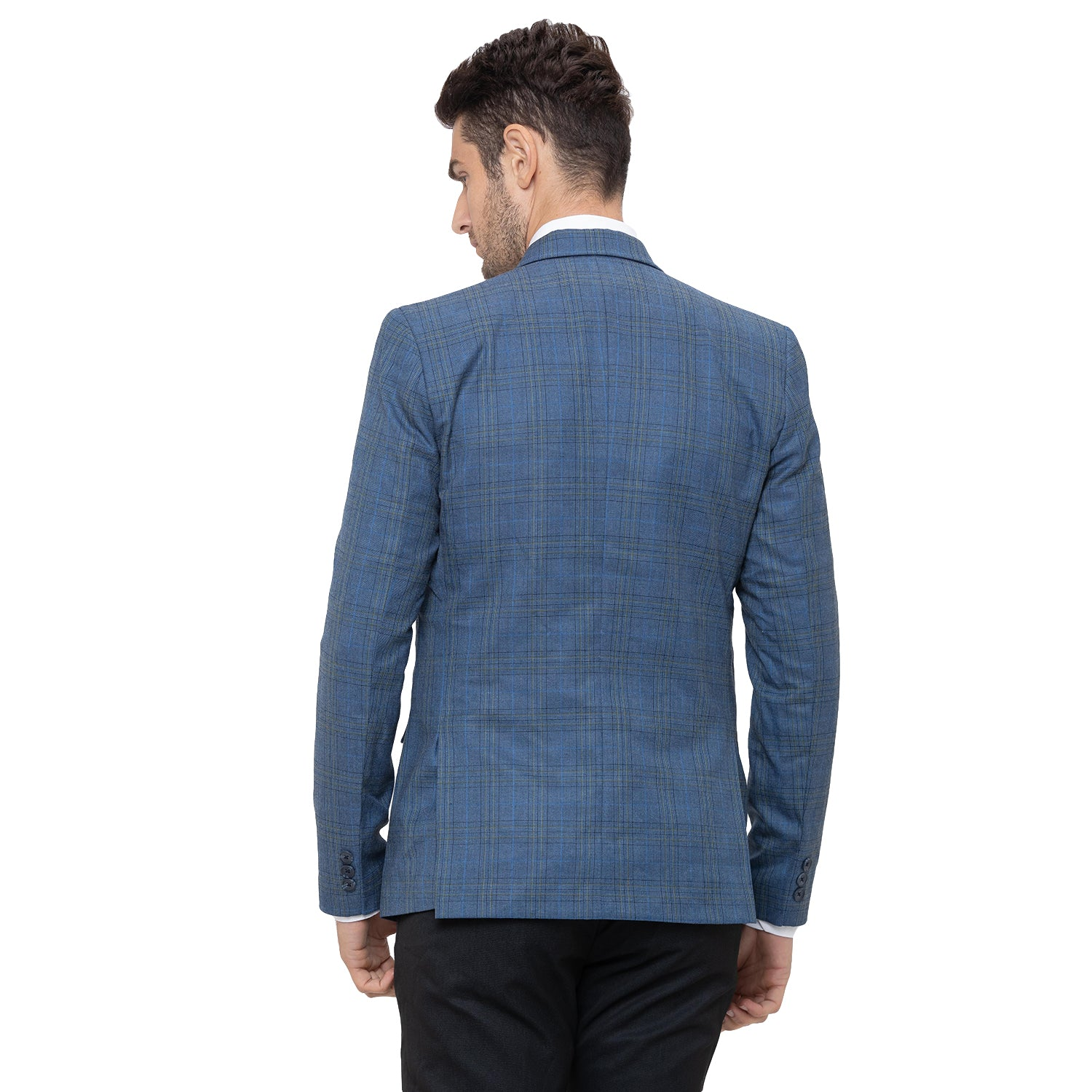 Globus Blue Checked Blazers-3