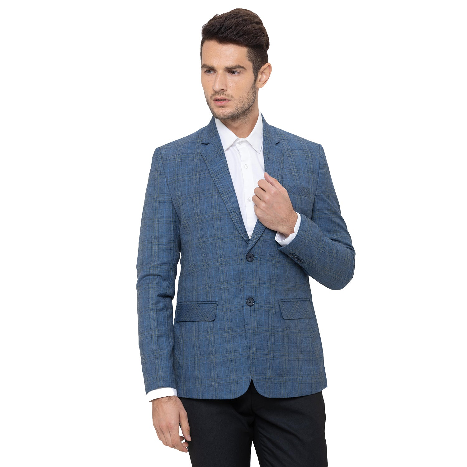 Globus Blue Checked Blazers-4