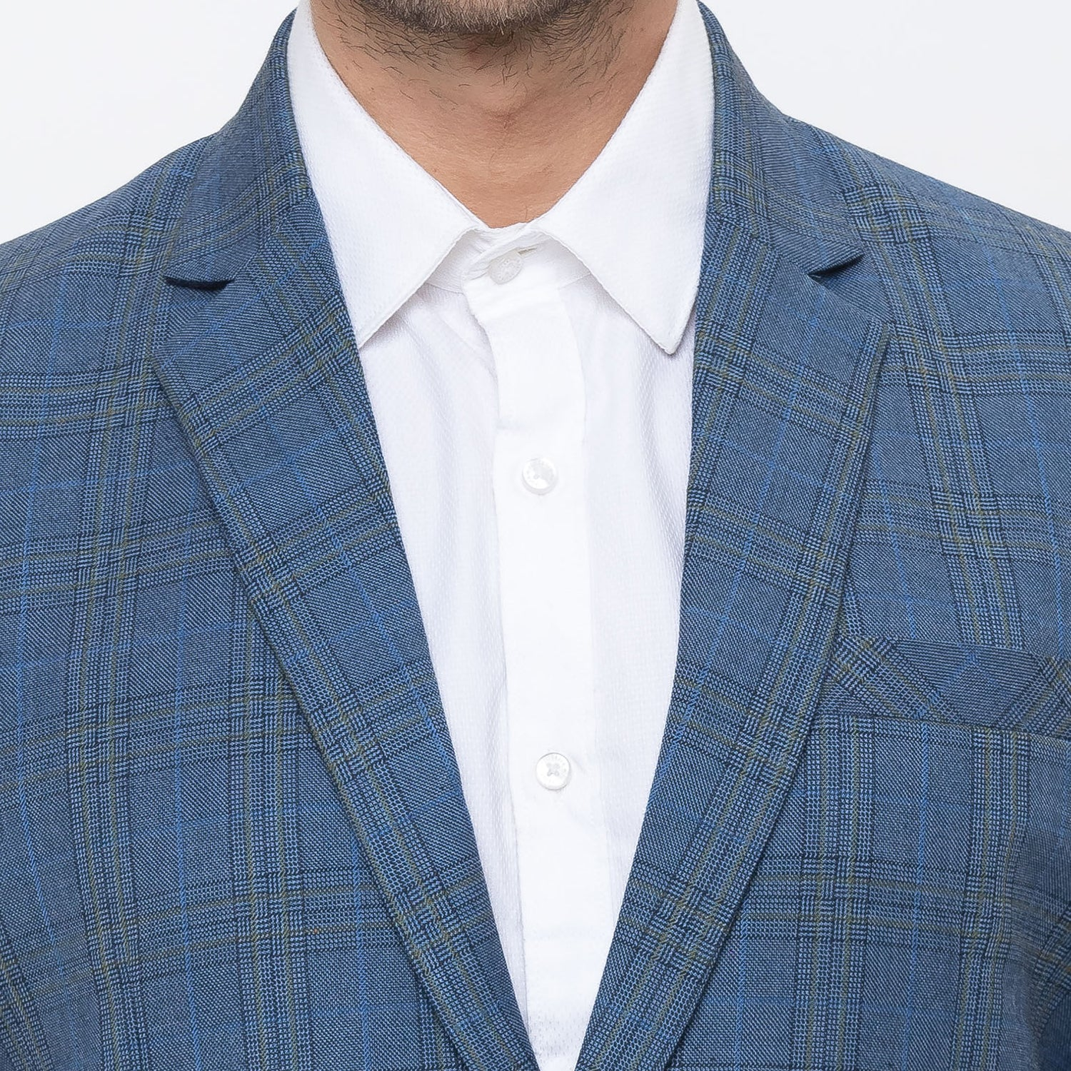 Globus Blue Checked Blazers-5