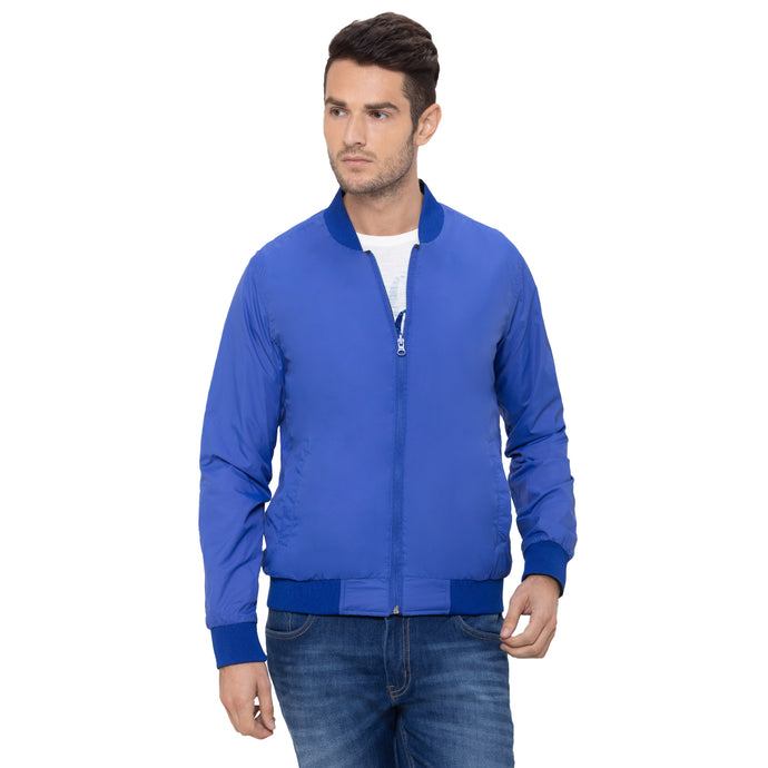 Globus Blue Solid Jackets-1