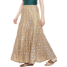 Load image into Gallery viewer, Gold Printed Maxi Skirt-2