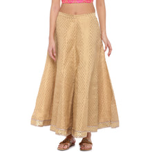 Load image into Gallery viewer, Gold Printed Maxi Skirt-1