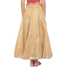 Load image into Gallery viewer, Gold Printed Maxi Skirt-3
