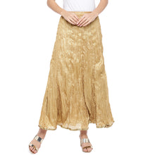 Load image into Gallery viewer, Gold-Coloured Solid Maxi Skirt-1