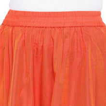Load image into Gallery viewer, Orange Solid Flared Maxi Ethnic Skirt-5