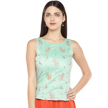 Load image into Gallery viewer, Sea Green Embroidered Top-1