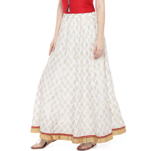 Load image into Gallery viewer, White Printed Maxi Skirt-2