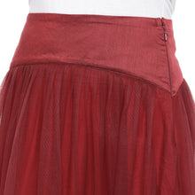 Load image into Gallery viewer, Maroon Solid Flared Maxi Ethnic Skirt-5