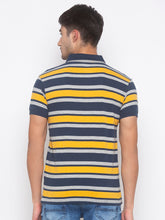 Load image into Gallery viewer, Globus Mustard & Navy Blue Striped T-Shirt-3