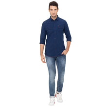 Load image into Gallery viewer, Globus Blue Solid Shirt-2