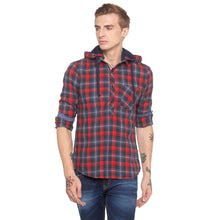 Load image into Gallery viewer, Tartan Check Hood Red Shirt-1