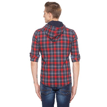 Load image into Gallery viewer, Tartan Check Hood Red Shirt-3