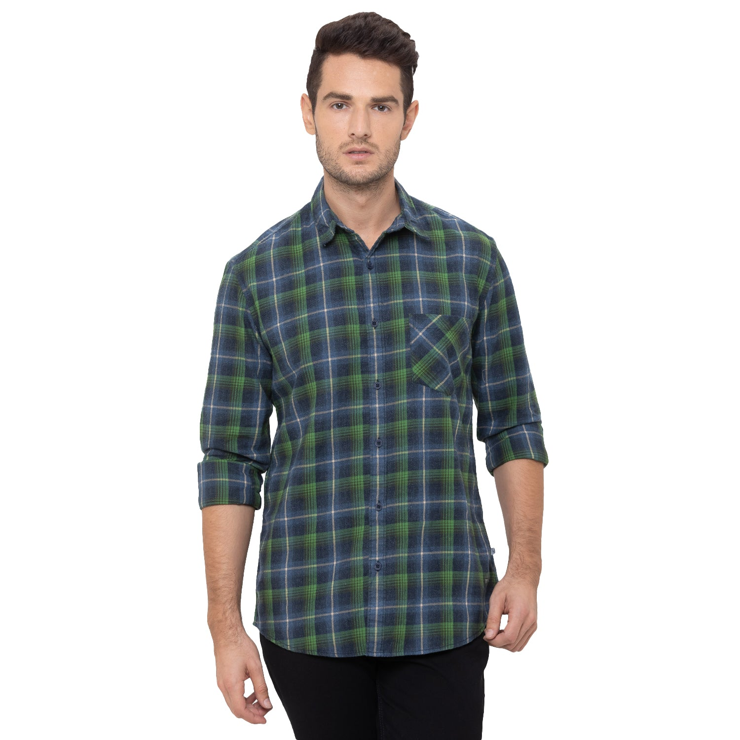Globus Green Checked Shirt-1
