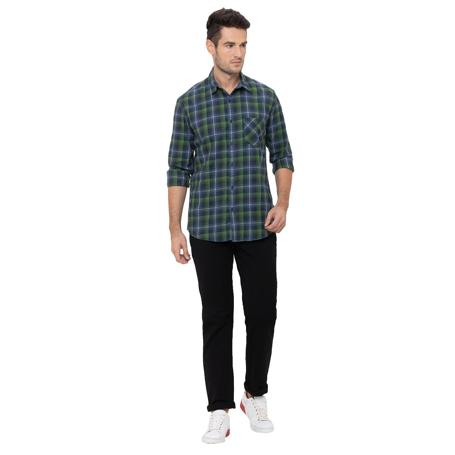Globus Green Checked Shirt-2