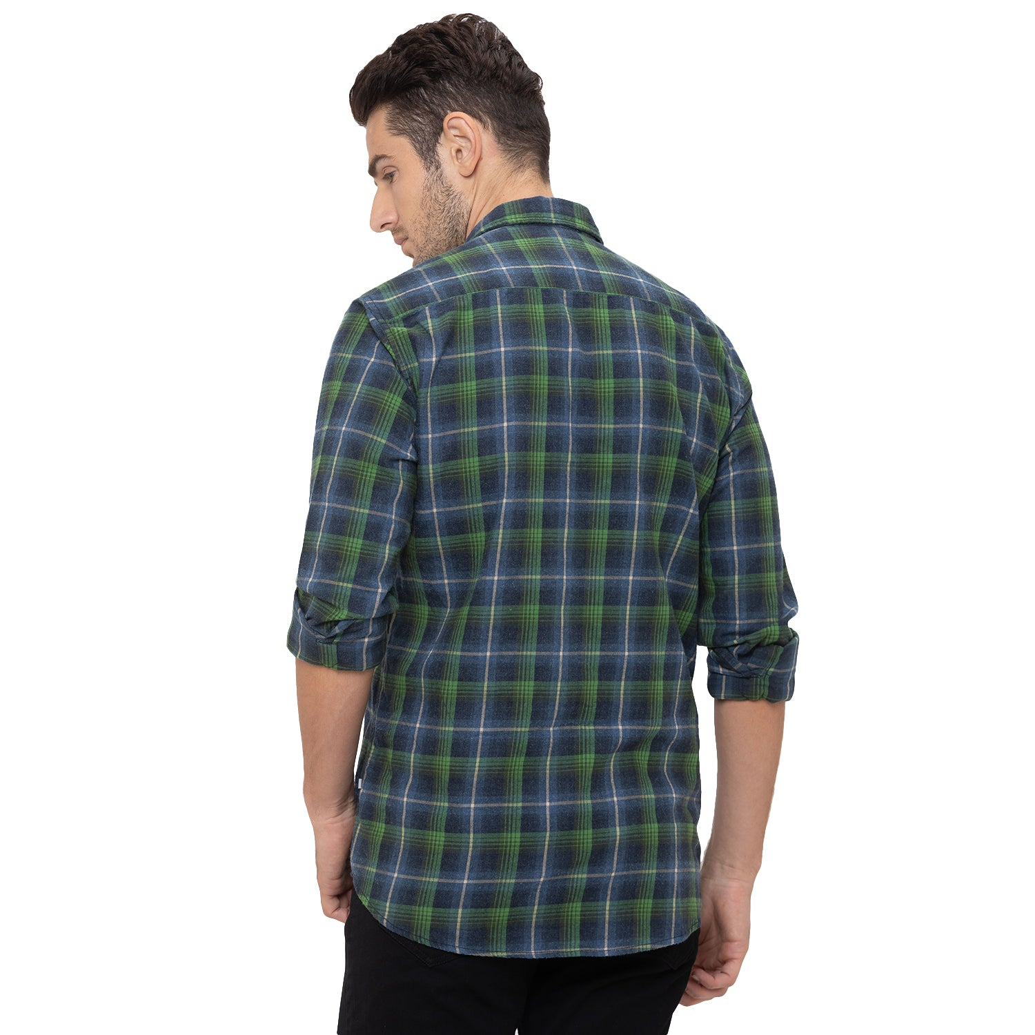 Globus Green Checked Shirt-3