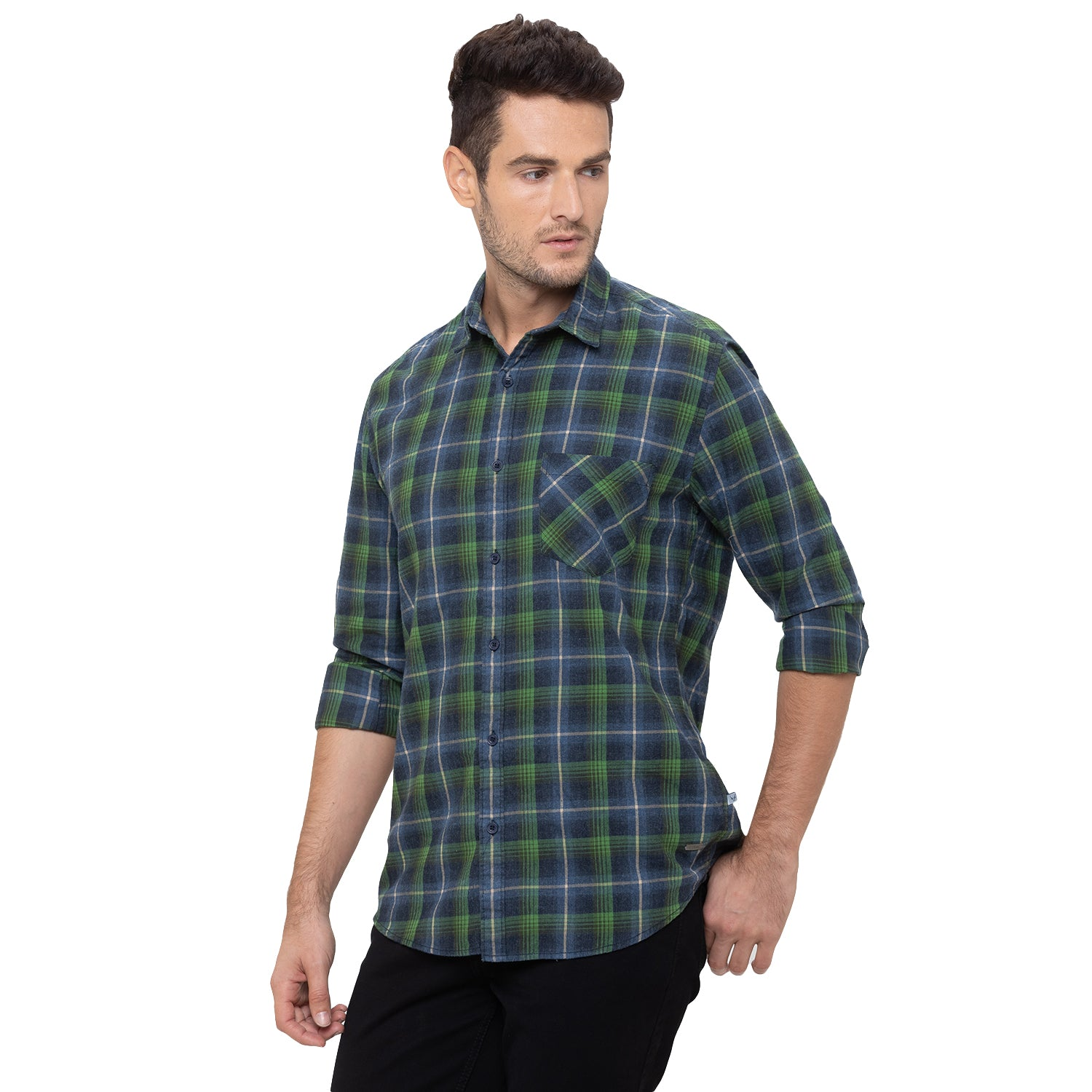 Globus Green Checked Shirt-4