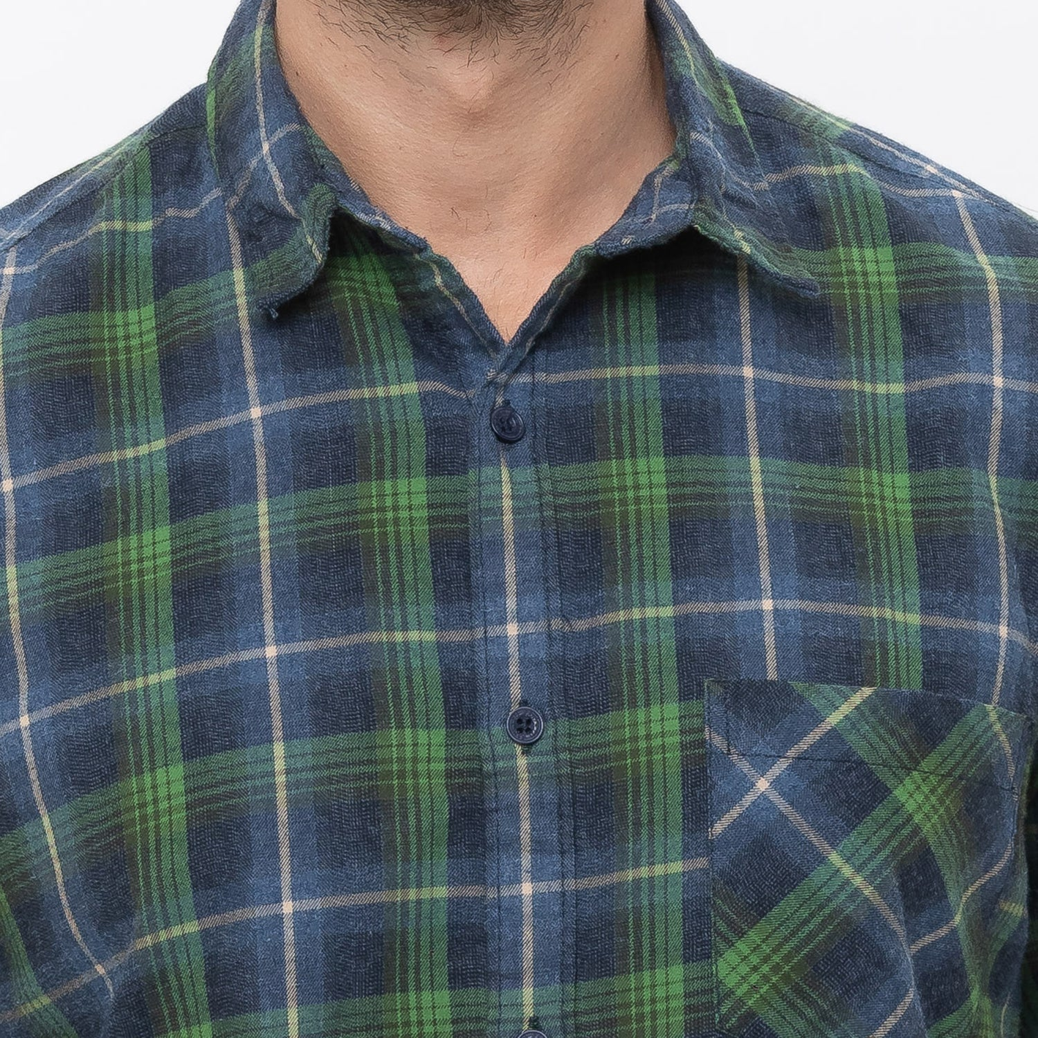 Globus Green Checked Shirt-5