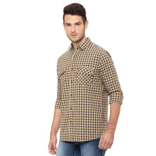 Load image into Gallery viewer, Globus Khaki Checked Shirt-4