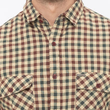 Load image into Gallery viewer, Globus Khaki Checked Shirt-5