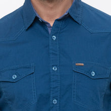 Load image into Gallery viewer, Globus Blue Solid Shirt-5