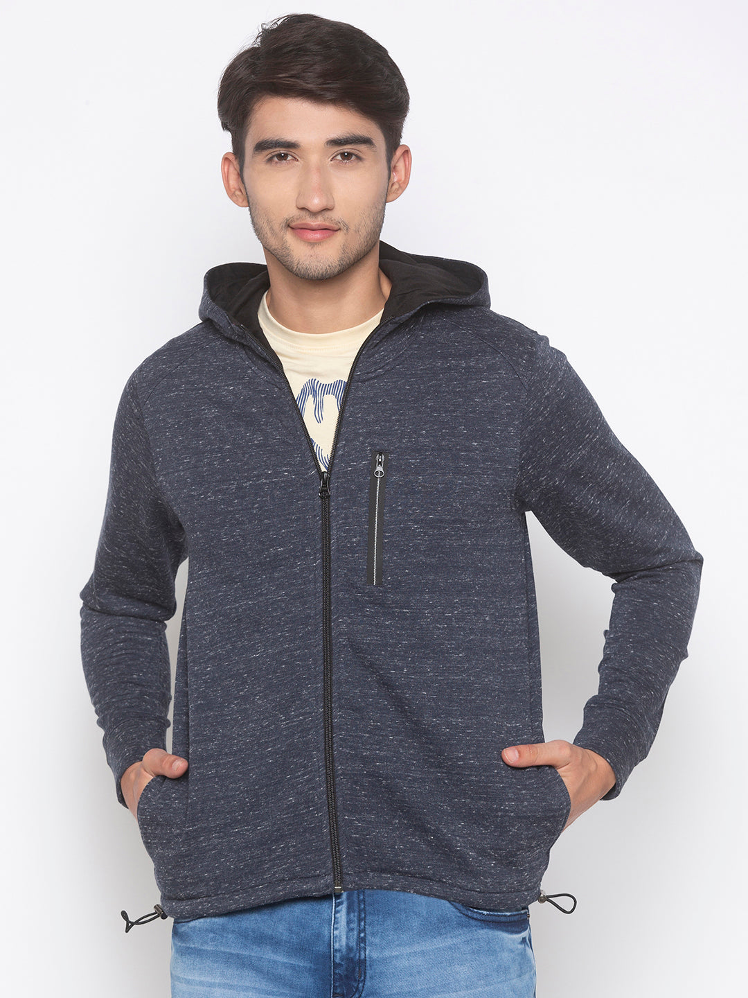 Globus Grey Solid Jacket-1