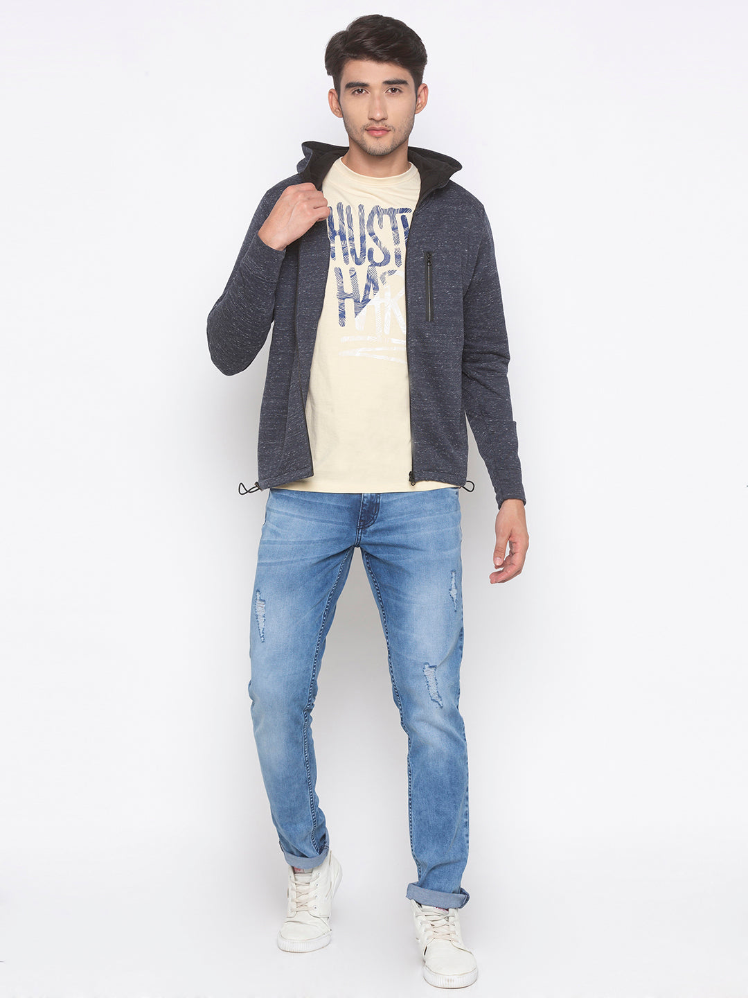 Globus Grey Solid Jacket-4